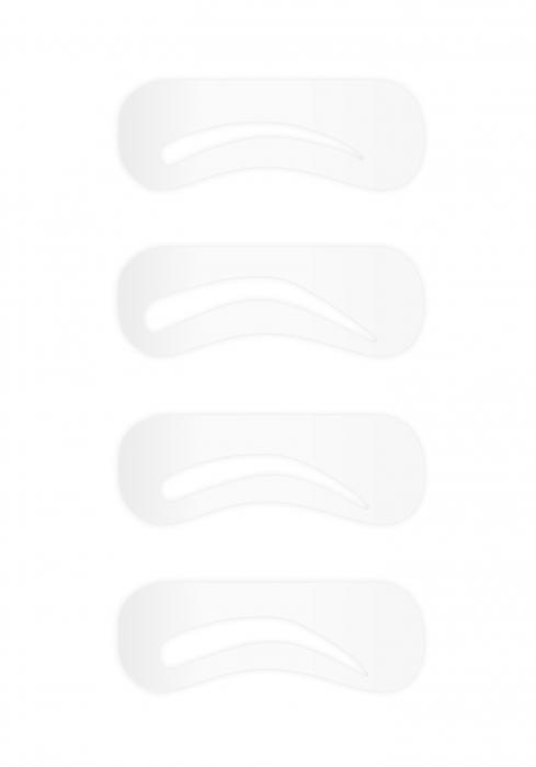 Kit 4 Sabloane Pentru Sprancene W7 Brow Master-big