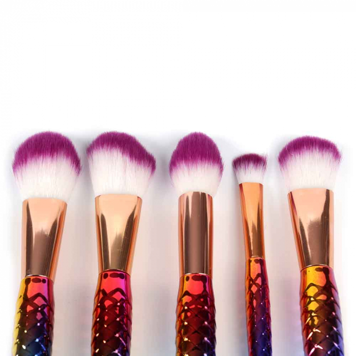 Set 5 Pensule Profesionale de tip SIRENA, Seducing Mermaids, Rainbow-big