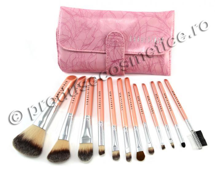 Set 12 Pensule Profesionale Fraulein38 Pink Premium-big