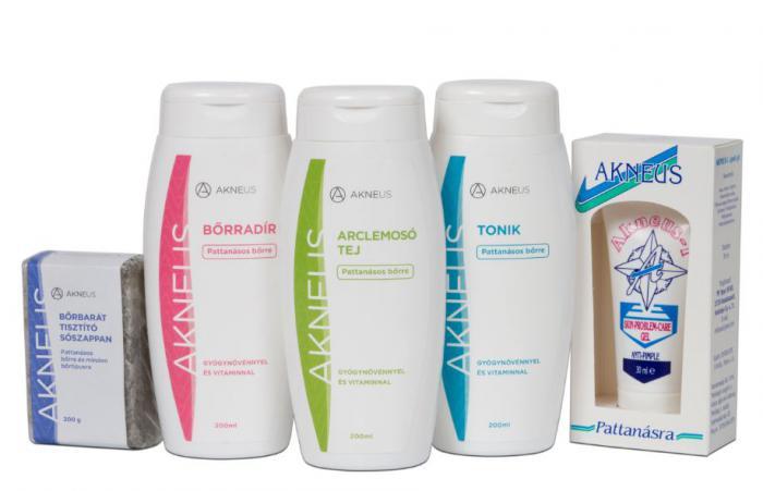 Lotiune faciala pentru curatare profesionala AKNEUS - 200ml-big