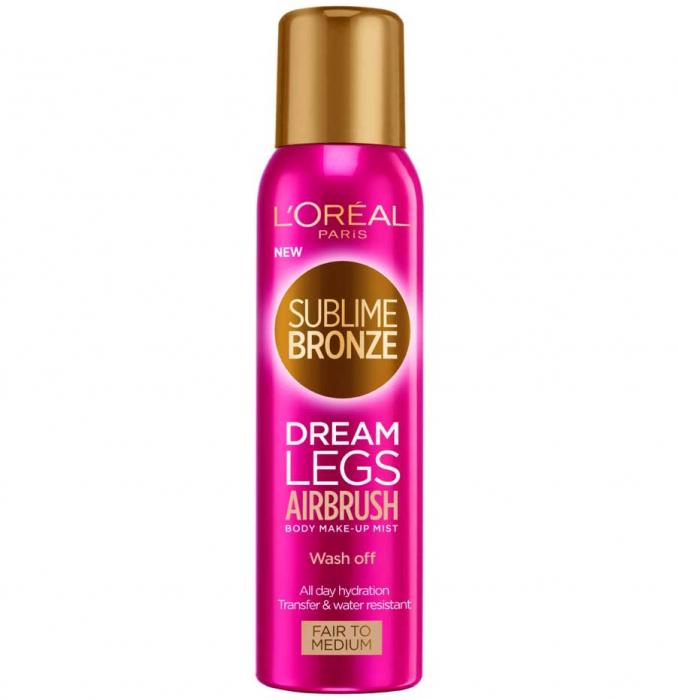 Spray Autobronzant L'Oreal Paris Sublime Bronze Dream Legs Airbrush, Fair to Medium, 150 ml-big