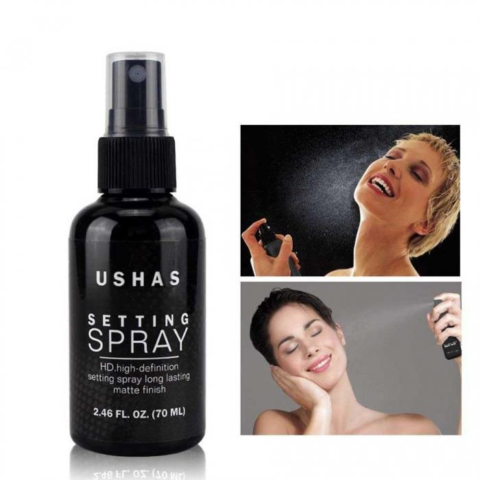 Spray Matifiant Pentru Fixarea Machiajului Ushas Setting Spray HD, 70 ml-big