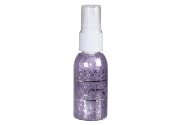 Spray Stralucitor Pentru Fata Si Corp Technic Face And Body Shimmer - Violet, 30 ml-big