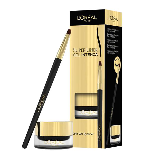 Gel Contur L'Oreal Super Liner Intenza - 02 Golden Black (Negru inchis), 2.8gr-big