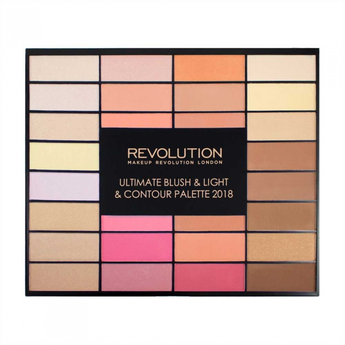 Trusa pentru Conturare Makeup Revolution Ultimate Blush, Light & Contour 2018, 32 nuante-big
