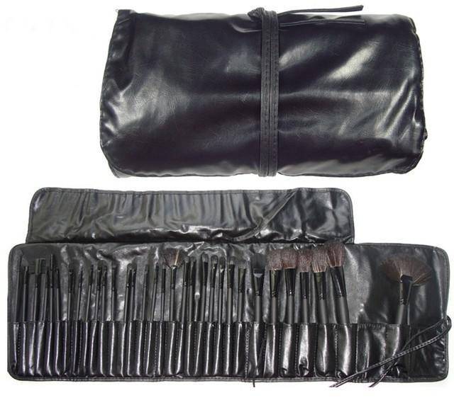 Set de 32 Pensule Profesionale din Par Natural Top Quality Hair - Black-big