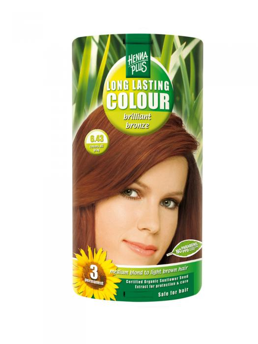 Vopsea de Par HennaPlus Long Lasting Colour - Brilliant Bronze 6.43-big
