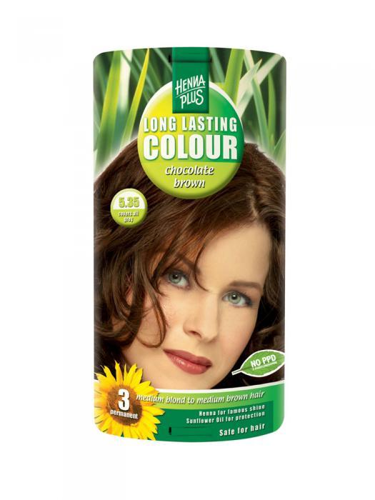 Vopsea de Par HennaPlus Long Lasting Colour - Chocolate Brown 5.35-big