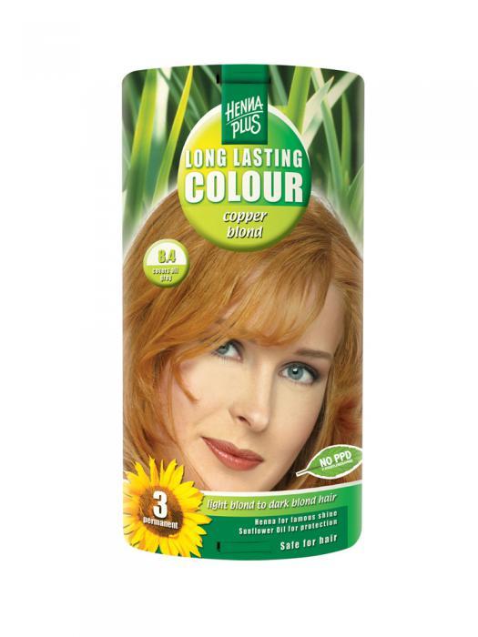 Vopsea de Par HennaPlus Long Lasting Colour - Cooper Blond 8.4-big