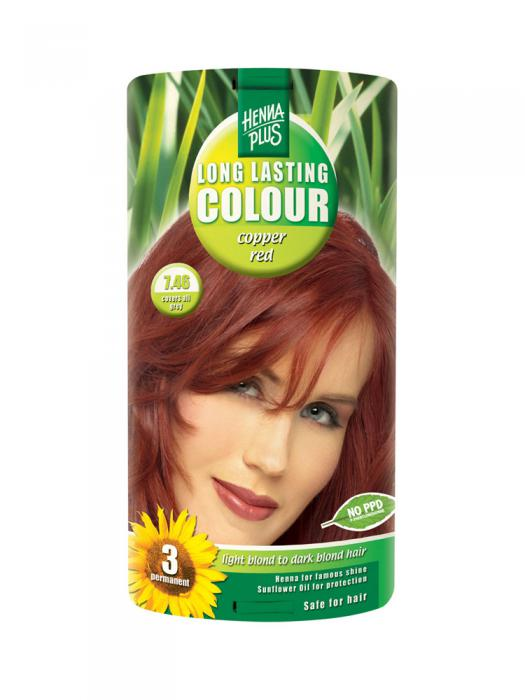 Vopsea de Par HennaPlus Long Lasting Colour - Cooper Red 7.46-big