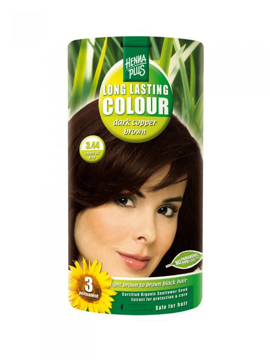 Vopsea de Par HennaPlus Long Lasting Colour - Dark Cooper Brown 3.44-big