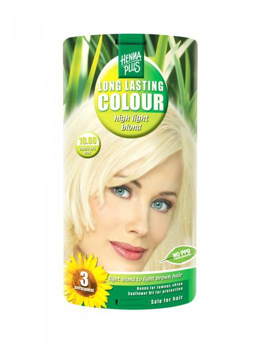 Vopsea de Par HennaPlus Long Lasting Colour - High Light Blond 10.00-big