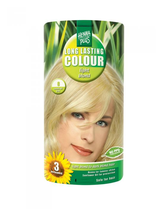 Vopsea de Par HennaPlus Long Lasting Colour - Light Blond 8-big