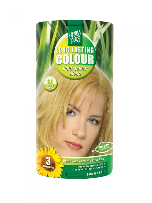 Vopsea de Par HennaPlus Long Lasting Colour - Light Golden Blond 8.3-big