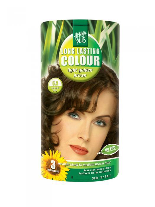 Vopsea de Par HennaPlus Long Lasting Colour - Light Golden Brown 5.3-big