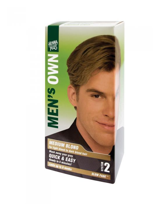 Vopsea de Par pentru Barbati HennaPlus Men's Own - Medium Blond-big