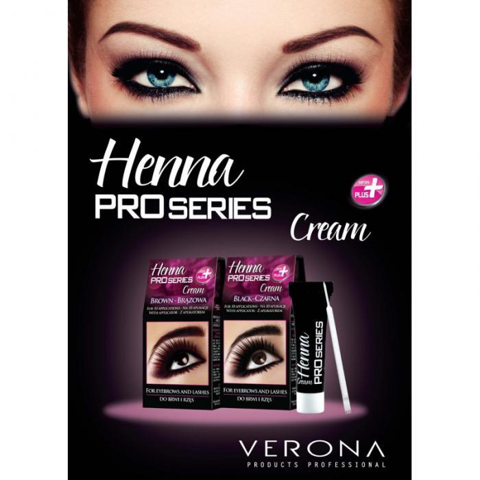 Vopsea Profesionala Crema pentru Sprancene HENNA Proseries - Negru-big
