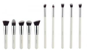 Set de 10 Pensule Profesionale FRAULEIN38 Top Quality Kabuki - White0
