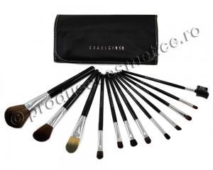 Set de 12 Pensule Profesionale Fraulein38 Studio Black0