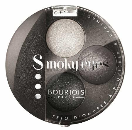 Paleta 3 Farduri Bourjois Smoky Eyes - 16 Gris Party, 4.5 gr
