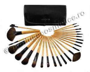 Set de 24 Pensule Profesionale Fraulein38 Natural Wood