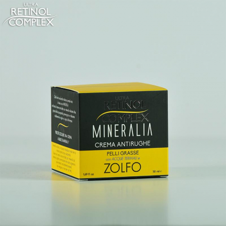 Crema antirid pentru Piele Grasa cu SULF si Apa Termala, Mineralia, 50 ml