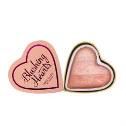 Blush Iluminator Makeup Revolution I Heart Makeup Blushing Hearts - Peachy Pink Kisses, 10g