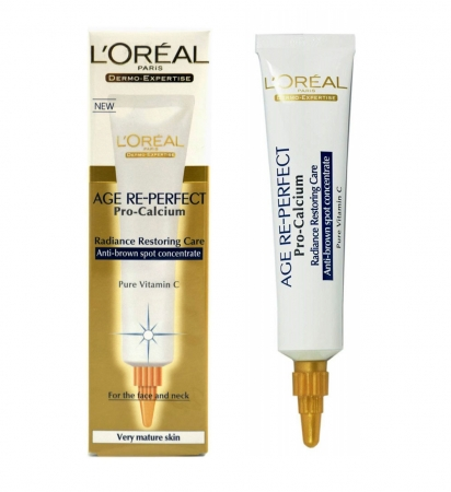 Concetrat anti-rid impotriva petelor maro L'OREAL Age Re-Perfect Pro Calcium, 30ml
