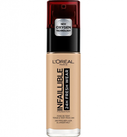 Fond de ten L'Oreal Paris Infaillible 24H Fresh Wear, 235 Honey, 30 ml