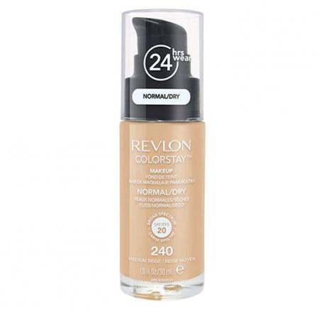 Fond De Ten Revlon Colorstay Dry Skin Cu Pompita - 240 Medium Beige, 30ml