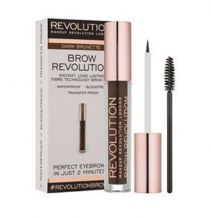 Gel Pentru Definirea Sprancenelor Makeup Revolution Brow Revolution - Dark Brunette, 3.8 gr
