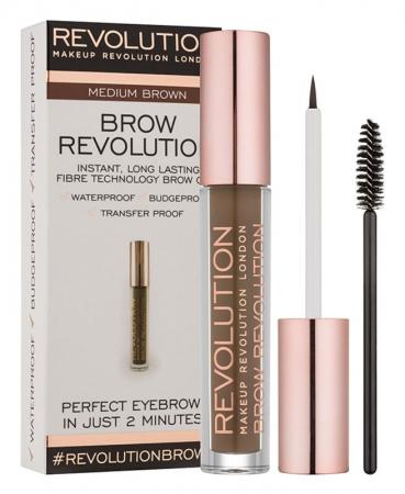 Gel Pentru Definirea Sprancenelor Makeup Revolution Brow Revolution - Medium Brown, 3.8 gr