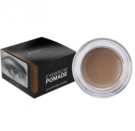 Gel Profesional pentru Sprancene INGRID Eyebrow Pomade Waterproof, Light Brown, 5g
