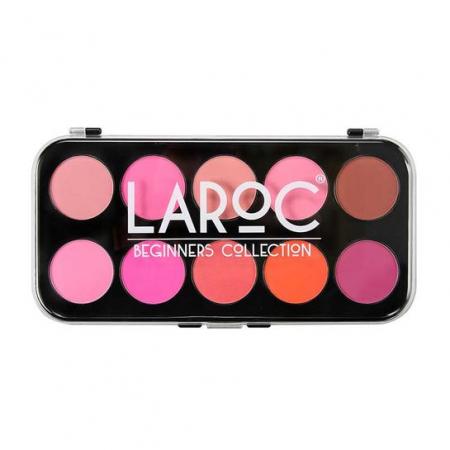 Paleta Profesionala cu 10 Farduri de Obraz LAROC Blusher Palette