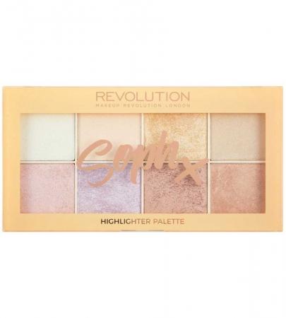 Paleta Iluminatoare Makeup Revolution Soph X Highlighter Palette, 8 nuante x 2g1