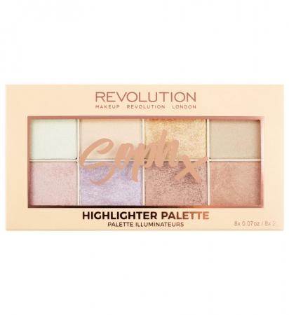 Paleta Iluminatoare Makeup Revolution Soph X Highlighter Palette, 8 nuante x 2g3