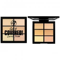 Paleta Anti-Cearcane cu 6 Corectoare Cremoase W7 Got It Covered Concealer Palette, 6g
