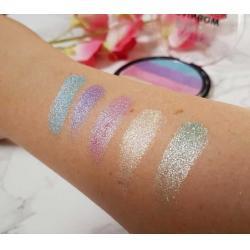 Paleta Iluminatoare Multicolora TECHNIC Prism Rainbow Highlighter Powder, 6g4
