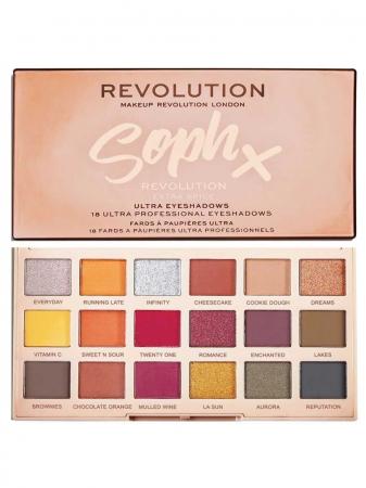 Paleta de farduri Makeup Revolution Soph X Eyeshadow Palette, Extra Spice, 18 Nuante8