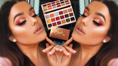 Paleta de farduri Makeup Revolution Soph X Eyeshadow Palette, Extra Spice, 18 Nuante3