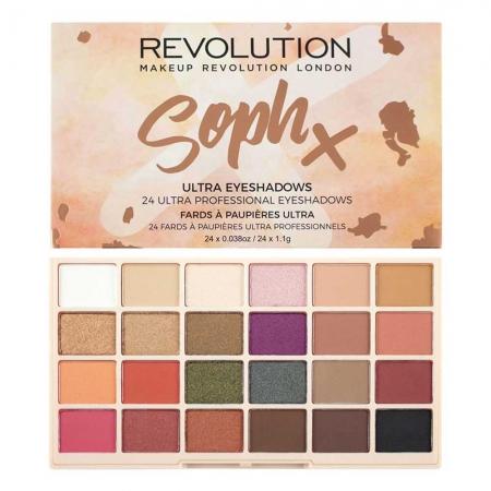 Paleta de farduri Makeup Revolution Soph X Eyeshadow Palette, 24 Nuante
