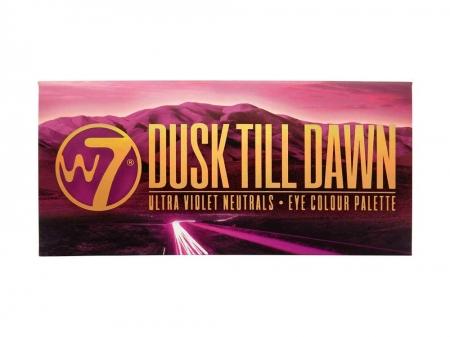 Paleta farduri W7 Dusk Till Dawn Eye Colour Palette, Ultra Violet Neutrals, 14 culori, 9.6g2