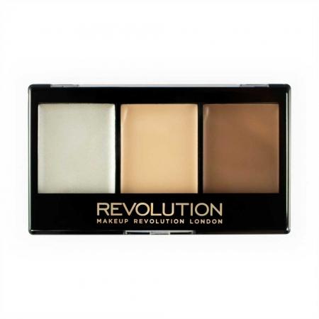 Kit Profesional pentru Conturare si Iluminare Makeup Revolution Ultra Contour Kit, Lightening Contour 01, 3x3.6g