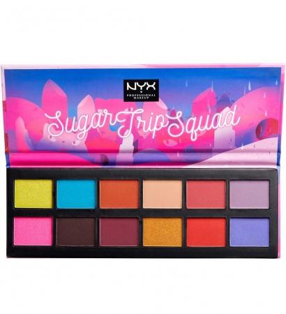 Paleta farduri NYX Proffesional Sugar Trip Squad Eyeshadow Palette Limited Edition
