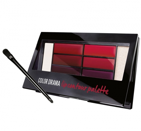 Paleta rujuri Maybelline New York Color Drama Lip Contour Palette, 01 Crimson Vixen, 4 g