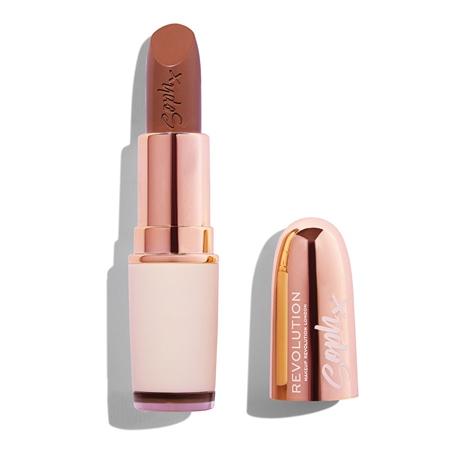Ruj de buze cremos Makeup Revolution Soph Nude Lipstick, Fudge