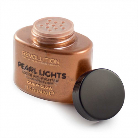 Iluminator Pulbere MAKEUP REVOLUTION Pearl Lights Loose Highlighter - Candy Glow, 42g1
