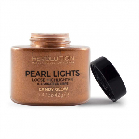 Iluminator Pulbere MAKEUP REVOLUTION Pearl Lights Loose Highlighter - Candy Glow, 42g2