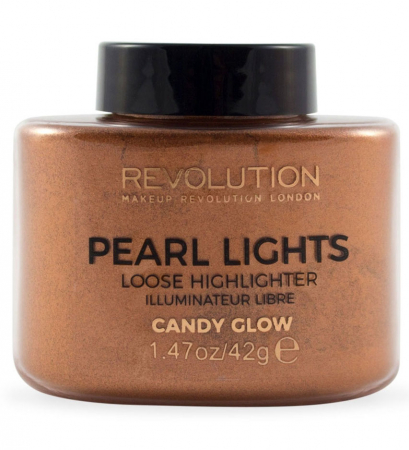 Iluminator Pulbere MAKEUP REVOLUTION Pearl Lights Loose Highlighter - Candy Glow, 42g0