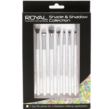 Set 7 pensule profesionale pentru ochi si sprancene Royal Shade & Shadow Collection 7 Eye Brushes
